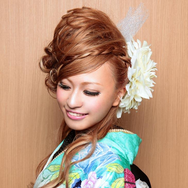 在庫限り 華やか 大振り ゴージャス 髪飾り kt461 七五三 かみかざり ヘアアクセ 着物 成人式