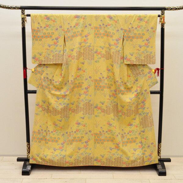 【中古】リサイクル着物 正絹着物 身丈160cm リサイクル小紋きもの uki-215 リサイクル 中古着物 中古きもの