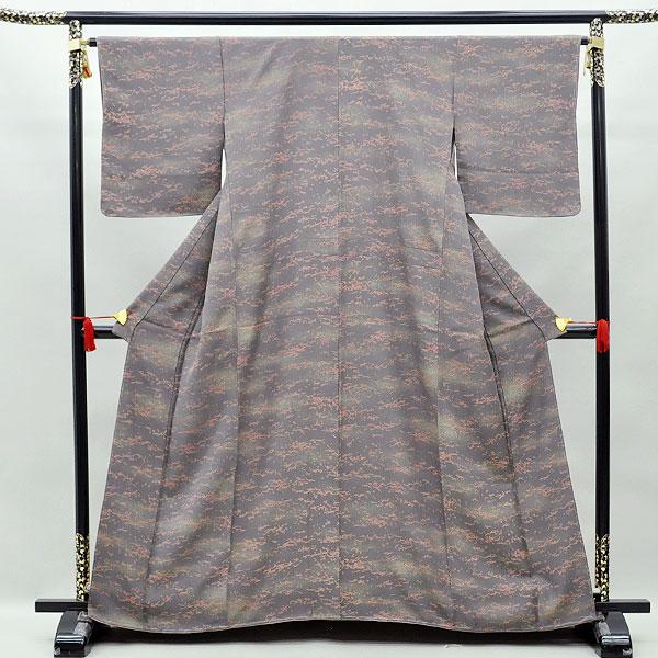 【中古】リサイクル着物 正絹着物 リサイクル中古着物 こげ茶 小紋 k-110リサイクル 中古着物 中古きもの 小紋きもの 小紋
