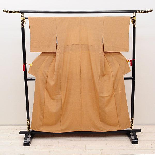 【中古】リサイクル着物 正絹着物 茶系・縦縞 リサイクル羽織着物 uk-176 リサイクル 中古着物 中古きもの 羽織