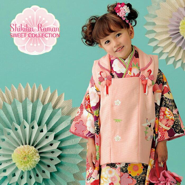 【レンタル】 七五三 753 3歳 女の子 女子 着物セット 3才被布セット 往復送料無料 3kodomo-0179