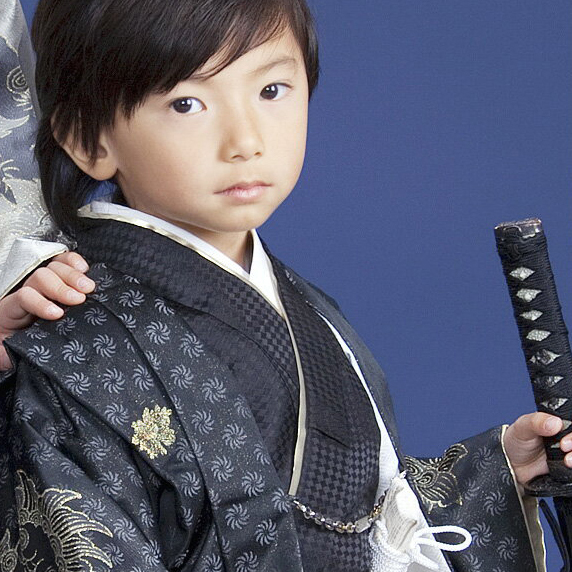 【レンタル】七五三 レンタル 男の子 5歳男児羽織袴フルセット往復送料無料ひさかたろまん 5歳 男の子用 re-5kodomo-0028