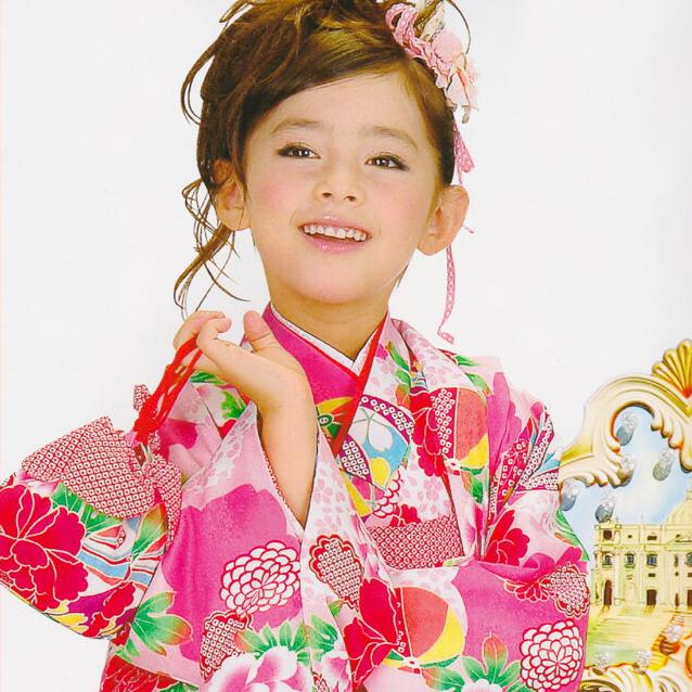 【レンタル】 着物セット 女の子用アンサンブルセット 9歳~10歳対応 往復送料無料 re-9-10kimono-0006