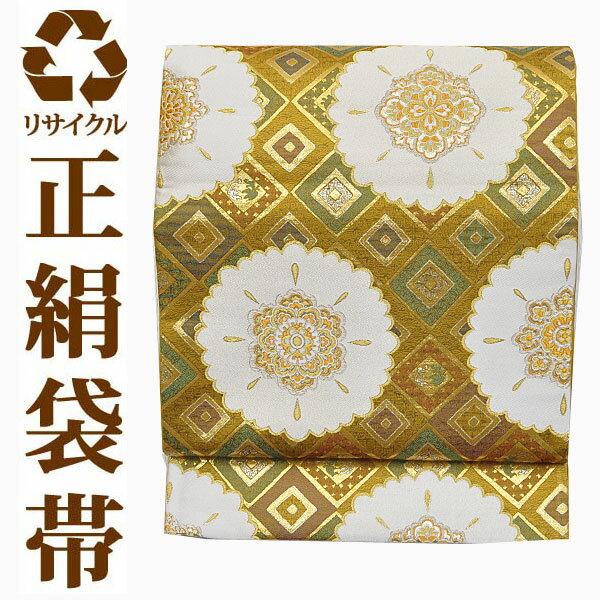 【中古】 【六通】 リサイクル中古袋帯 ufobi427 リサイクル中古帯 袋帯 正絹袋帯