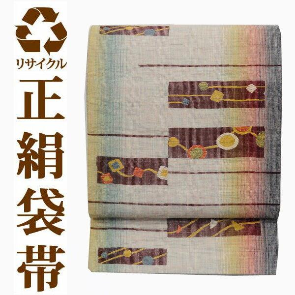 【NewYearSALE対象商品】【中古】 【六通】 リサイクル中古袋帯 ufobi432 リサイクル中古帯 袋帯 正絹袋帯