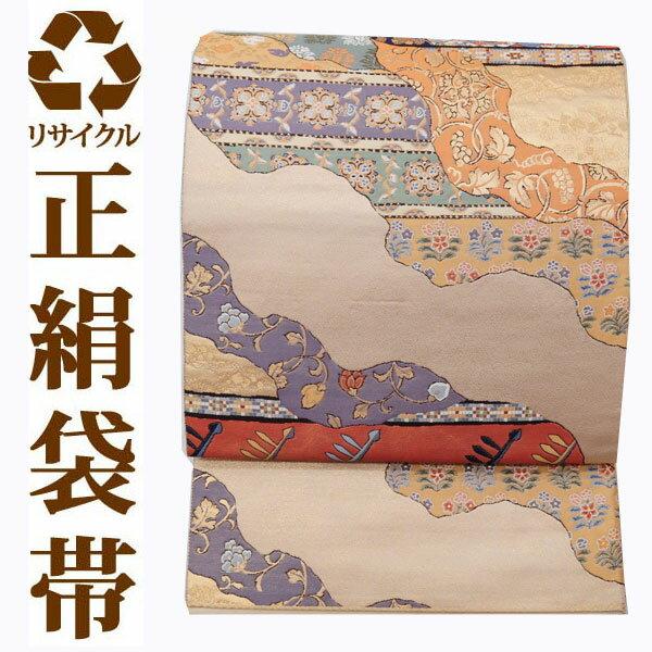 【中古】 【六通】 リサイクル中古袋帯 ufobi464 リサイクル中古帯 袋帯 正絹袋帯