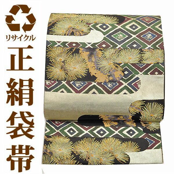 【中古】 リサイクル袋帯 ufobi510 リサイクル中古帯 袋帯 正絹袋帯