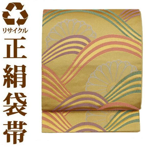 【中古】【六通】リサイクル袋帯 ufobi555 リサイクル中古帯 袋帯 正絹袋帯