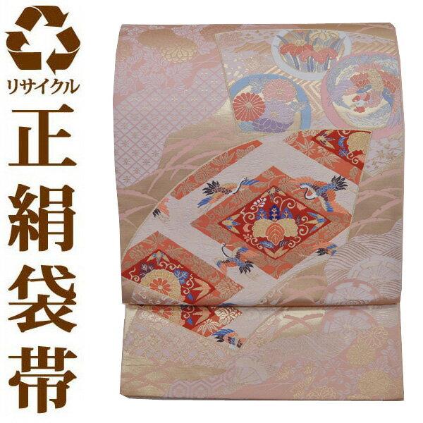 【中古】【六通】リサイクル袋帯 ufobi562 リサイクル中古帯 袋帯 正絹袋帯