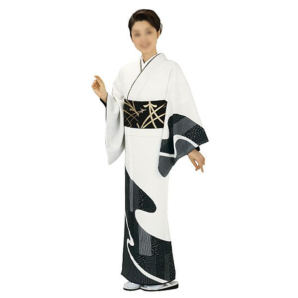 胴抜き絵羽着物 踊り衣装 白地・流水 里-1201-s wco-1201-s-p28