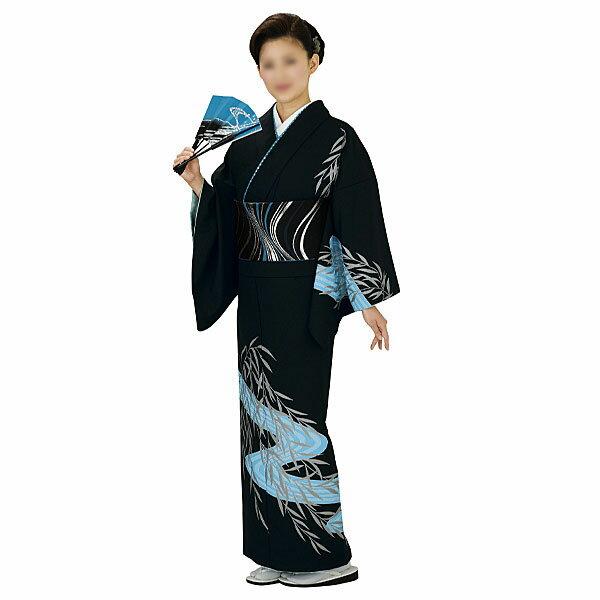 胴抜き絵羽着物 踊り衣装 黒・笹・流水 里-1203-s wco-1203-s-p28