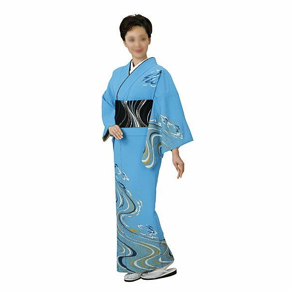 胴抜き絵羽着物 踊り衣装 ブルー・流水 里-1204-s wco-1204-s-p28