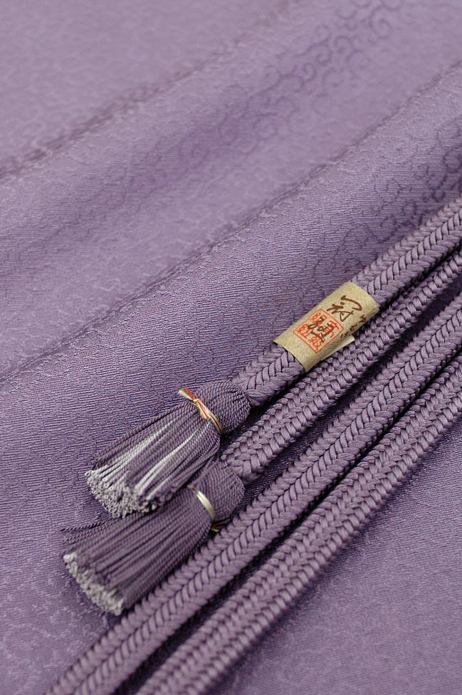 【絶対重宝セット☆】 特選丹後ちりめん草木染め帯揚げ&冠(ゆるぎ)組み帯締めNo.10 浅紫色