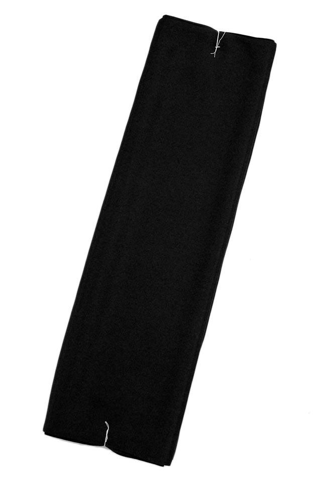 ≪男物≫正絹羽二重御胴裏地「富久絹・黒」キングサイズ113