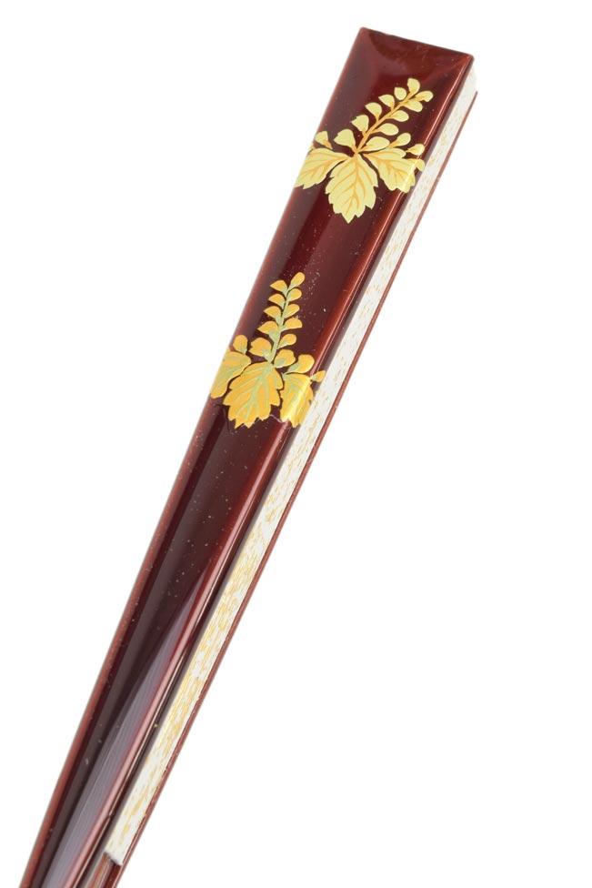 礼装用末広(扇子)溜塗 蒔絵細工 「桐」≪京の逸品和小物≫