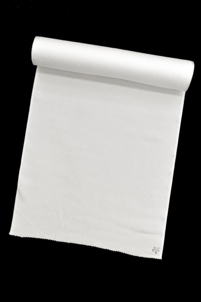 【夏物】【ふるるん】洗える正絹京染め紋紗長襦袢≪手縫い仕立て代込み≫「水紋ドット・白」JGS00-0★おうちでお手いれ!
