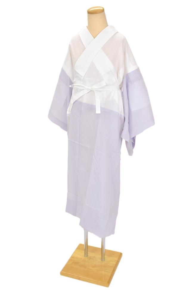 ≪衿秀のローズカラー・き楽っく≫衿ファスナー付き襦袢+替え袖セットパープル/Sサイズ(ローズカラー専用商品)