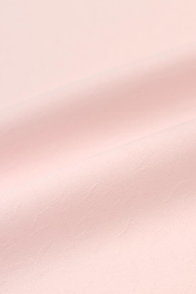【東レシルック奏美】紋意匠色無地着尺美ゆきNO.5613「淡紅色(たんこうしょく)」