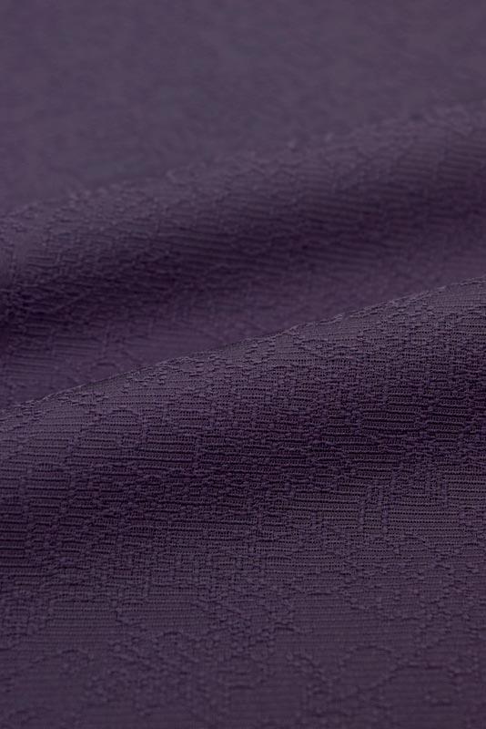 東レシルック 紋意匠色無地 華格子NO.6106「紫紺色」≪贅沢な地紋に包まれて…≫