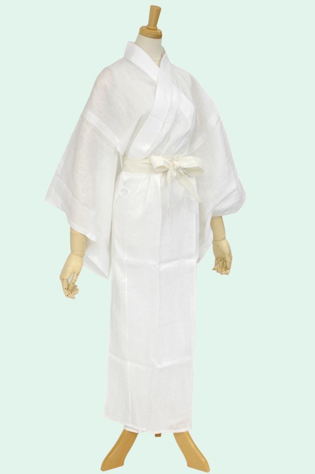 ≪夏の快適下着≫【夏物】 リネン(麻)素材お仕立て上り洗える長襦袢M(1500739)