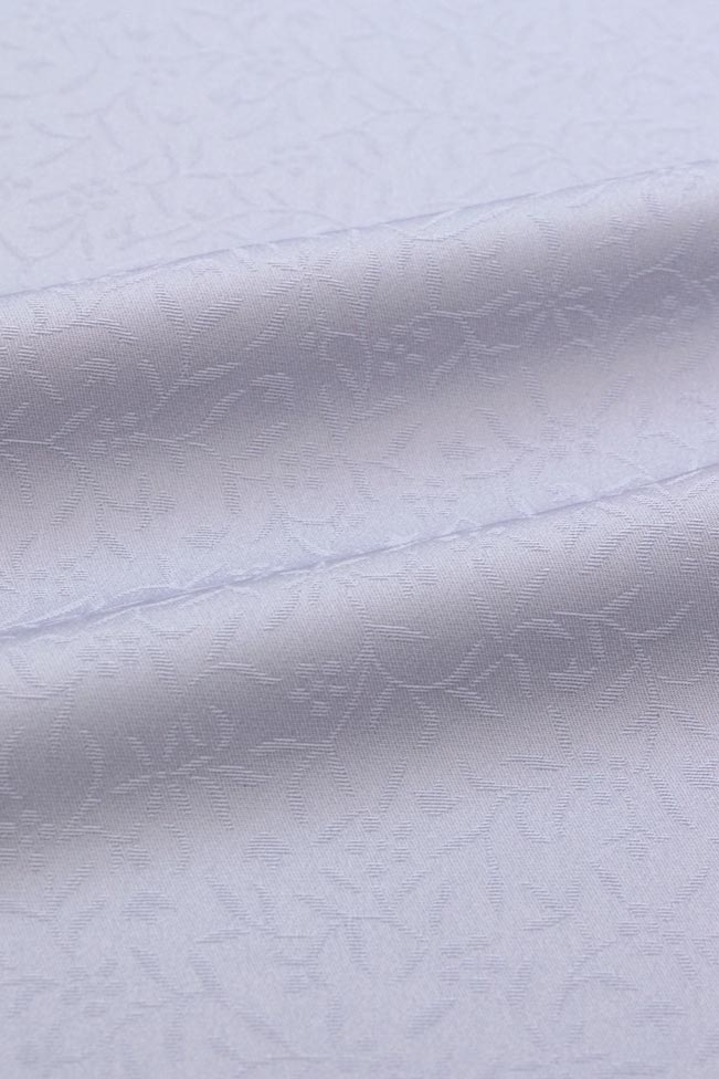 【東レシルック奏美】紋意匠色無地着尺美ゆきNO.5605「薄藤鼠色」