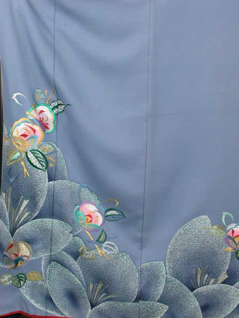 謝恩会正絹和装 披露宴結納 結婚式パーティー正絹 きもの振袖 着物貸衣裳 貸衣装 往復 送料無料レンタル トールサイズKF129-2