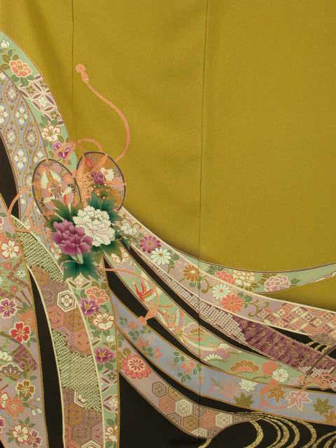 【レンタル】謝恩会正絹成人式和装 披露宴結納 結婚式パーティー正絹 きもの振袖 着物貸衣裳 貸衣装 往復 送料無料レンタル トールサイズKF154華セット