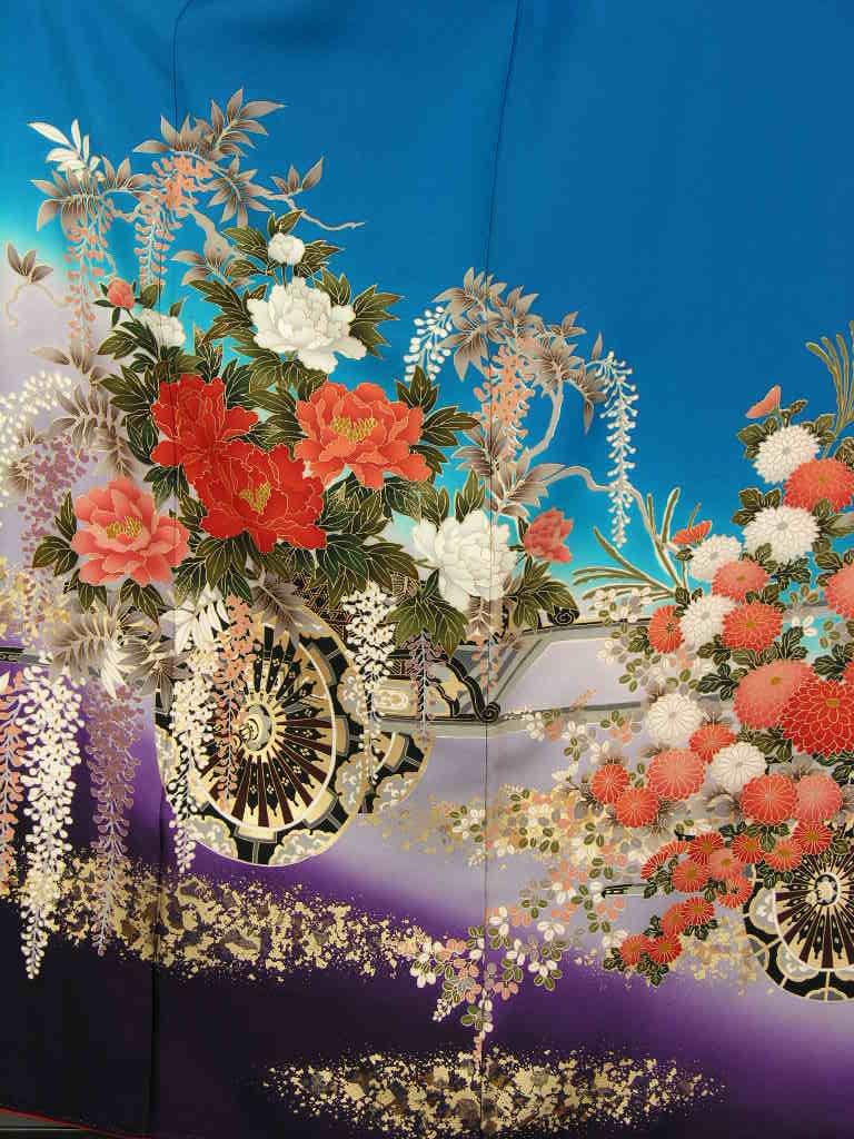 成人式和装 披露宴結納 結婚式パーティー正絹 きもの振袖 着物貸衣裳 貸衣装 往復 送料無料レンタル ノーマルサイズ KF103-2