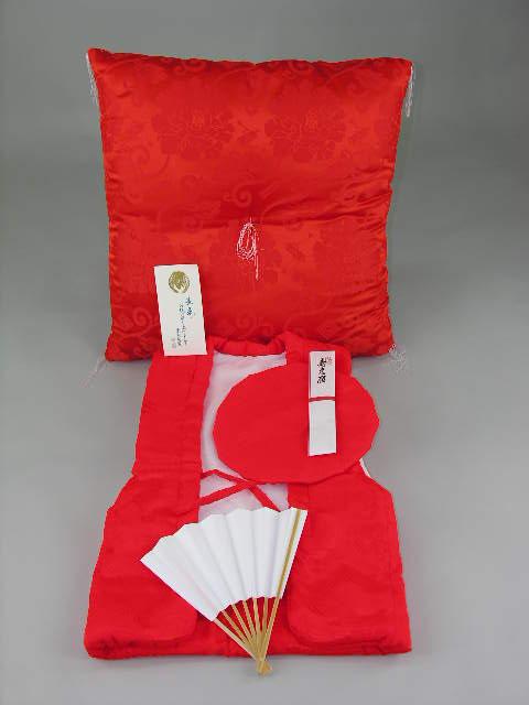 Round birthday 60th birthday rental 60 60-year-old red wadded vest hood sense cushion 4-piece set