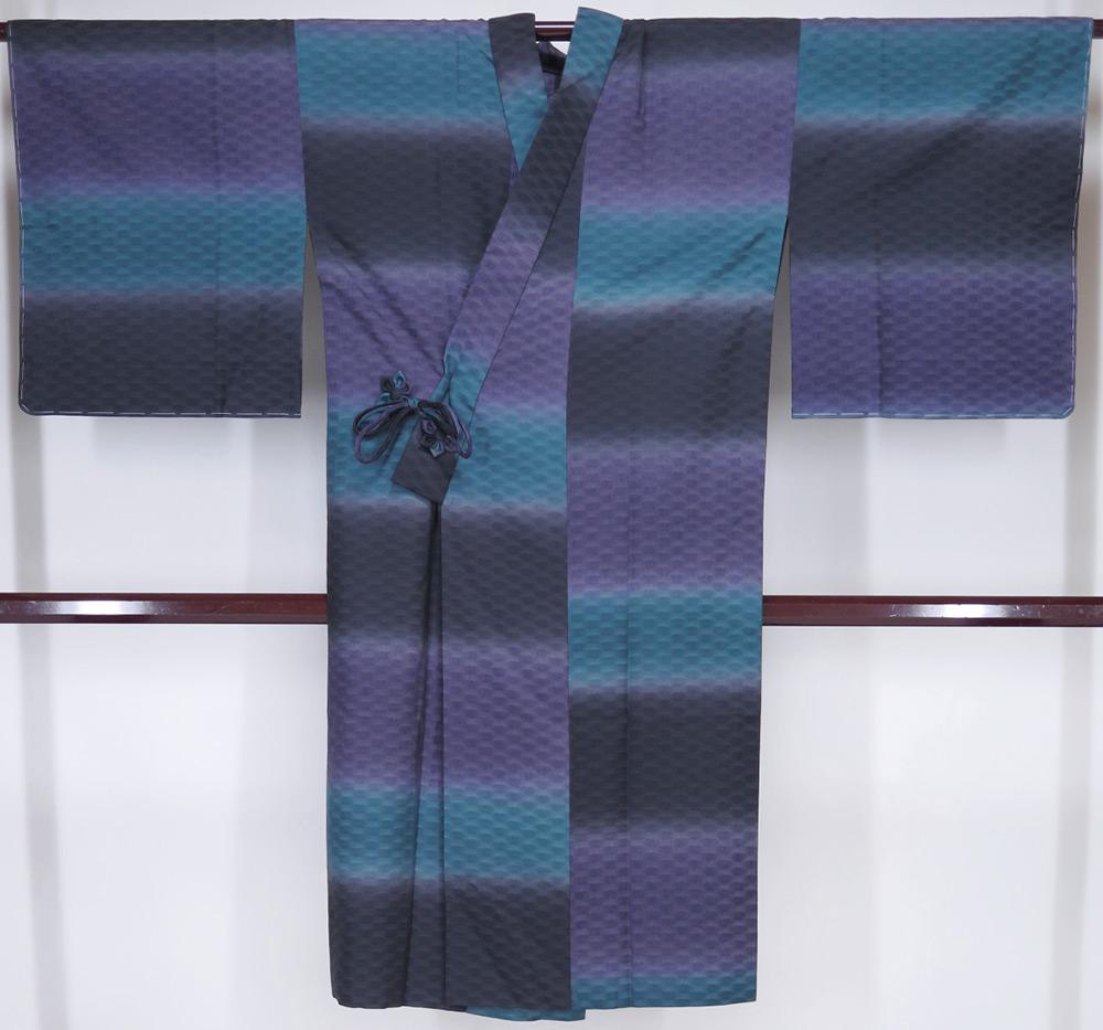 夏用 新品 お仕立上り 紗道中着 夏コート 緑・紫・黒