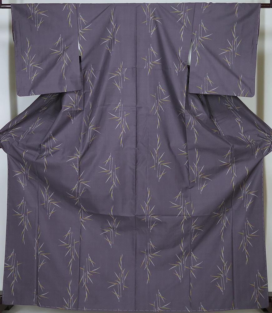 【中古】 美品 本場大島紬 7マルキ カタス式 紫 証紙なし