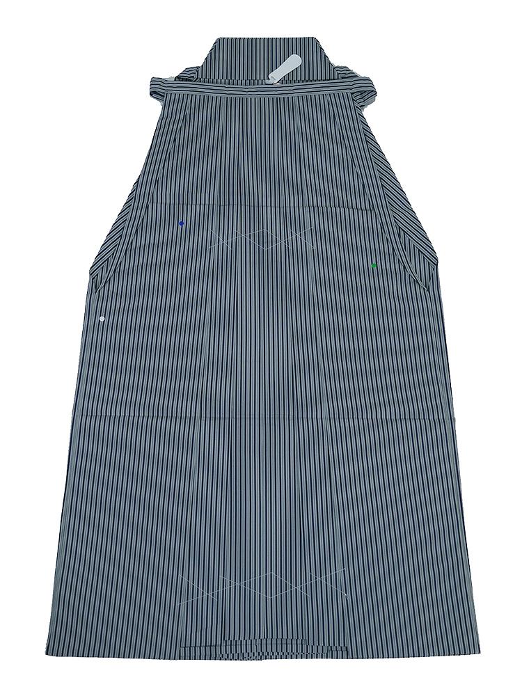 誂え流れ 未使用品 紳士用 正絹 袴 行灯 縞柄 腰紐下89cm Sサイズ