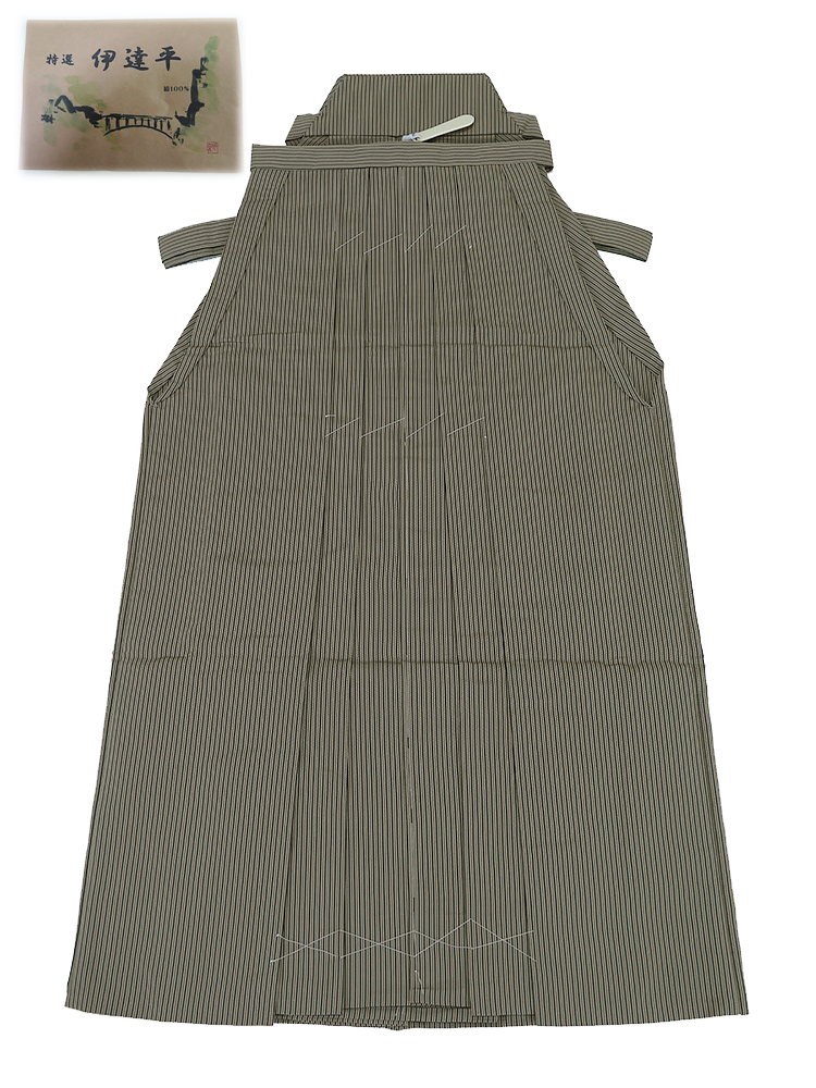 新品 お仕立上り 紳士用 正絹 袴 馬乗 米沢産 伊達平 腰紐下91cm Mサイズ