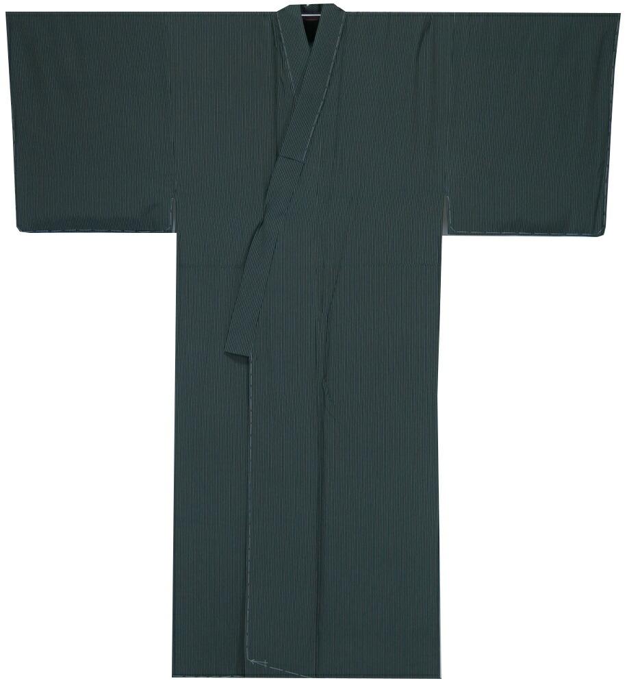 紳士着物 対応身長173cm前後 誂え流れ 未使用品 田島輝久 小紋