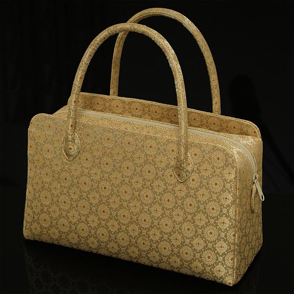 利休バッグ 手提げお茶バッグ 葵バッグ 日本製 帯や着物からも製造いたします。【メール便対応不可】
