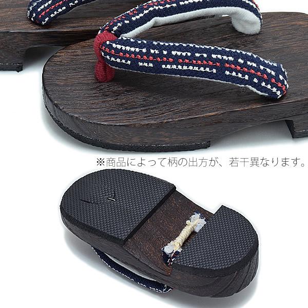日式兒童專用木屐[深藍色,點點]刺繡木屐,夏天搭配浴衣,甚平用