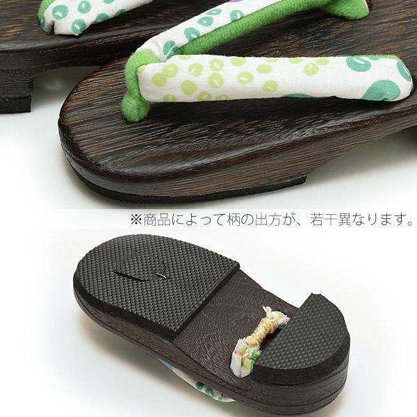 日式兒童專用木屐[綠色,豆豆]刺繡木屐,夏天搭配浴衣,甚平用