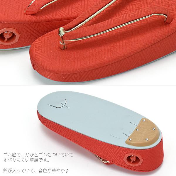歌舞伎町 3 岁凉鞋女孩鞋只红绫 18 厘米歌舞伎町 3 岁女孩,娃娃节,新的一年的孩子凉鞋红