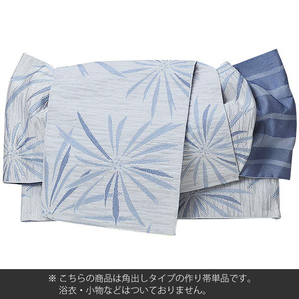 角出し風タイプ 結び帯単品 白鼠色 花火 京都きもの町オリジナル 浴衣帯 作り帯 付け帯メール便不可qpMUzVS