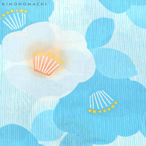 여성 유카 타 단품 「 하늘색 줄무늬에 매 화 」 면 욕의 プレタ 욕의이 맞게 유카 불꽃놀이, 여름 데이트 무료 블루 꽃무늬 면 FS-S-1-35