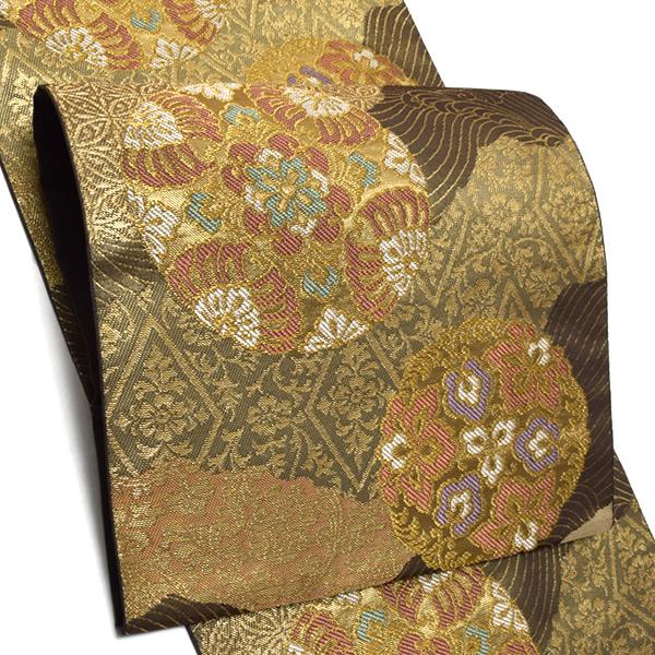 礼装 袋帯「雅華文」未仕立て 正絹帯 礼装帯 フォーマル <T>【メール便不可】