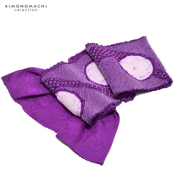 振袖 帯揚げ「紫色×淡藤色」総絞り 正絹絞り 正絹帯揚げ 振袖小物 【メール便不可】