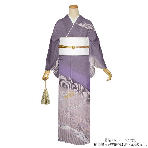 お仕立て上がり 訪問着単品「薄紫色 花吹雪」正絹着物 礼装 正絹訪問着 高級プレタ 袷仕立て <T>【メール便不可】