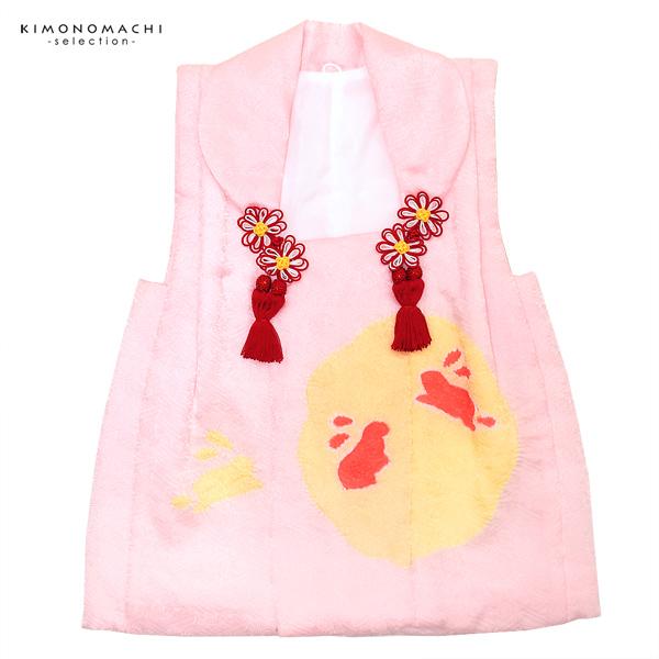 女児 被布コート単品「薄ピンク色 うさぎ」3歳児用 女の子小物 お子様被布コート 和装小物 うさぎ【メール便不可】