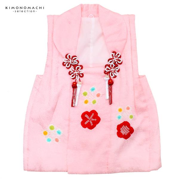 女児 被布コート単品「ピンク 絞りのお花」3歳児用 女の子小物 お子様被布コート 和装小物 梅香【メール便不可】