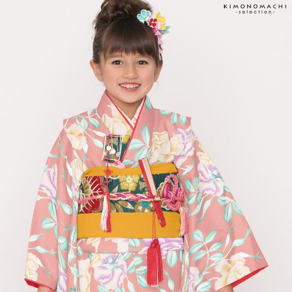 七五三 四つ身着物単品「ピンク 薔薇」取り寄せ品 七五三祝い Shikibu Classic こども着物 Cバラ-7P【メール便不可】