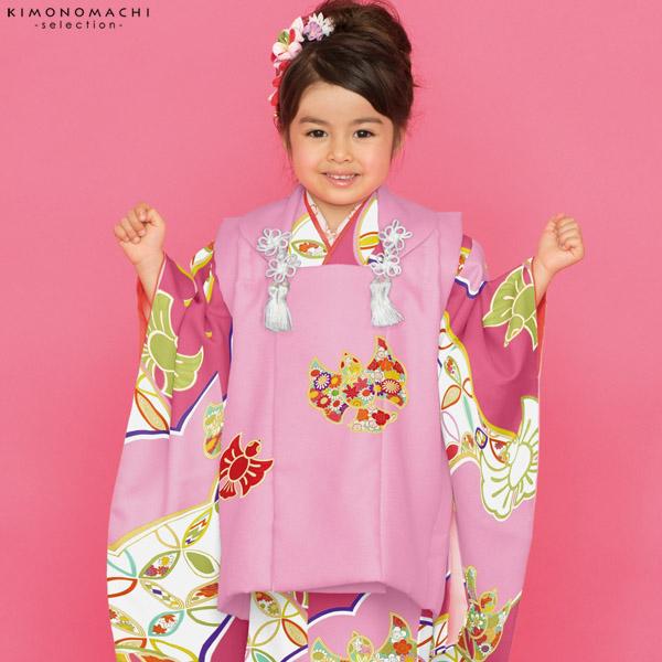 七五三 被布セット「ピンク 雀」取り寄せ品 こども着物セット Shikibu Classic 子供着物 Cスズメ-12PP【メール便不可】