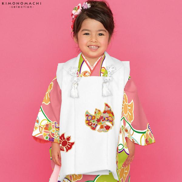 七五三 被布セット「白×ピンク、グリーン 雀」取り寄せ品 こども着物セット Shikibu Classic 子供着物 Cすずめー011SG【メール便不可】