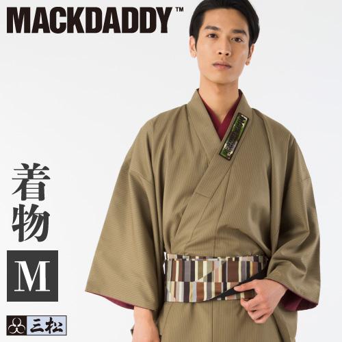 【メンズ】【男物】【MACKDADDY】コラボ着物・メンズ着物・カジュアル着物(ベージュ)Mサイズ