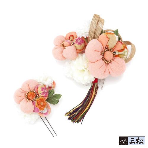 【 髪飾り 】「梅ぼんぼん×タッセル( ピンク )」卒業式 袴 成人式 振袖 着物 花 ヘアアクセサリー 梅 タッセル